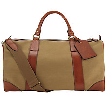 Buy Polo Ralph Lauren Canvas Leather Trim Weekend Holdall Online at johnlewis.com