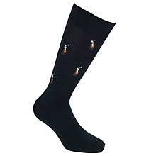 Buy Polo Ralph Lauren Print Socks, Navy Online at johnlewis.com