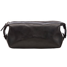 Buy Polo Ralph Lauren Leather Wash Bag, Black Online at johnlewis.com