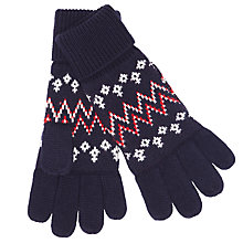 Buy John Lewis Fair Isle Knitted Gloves, Navy/Multi Online at johnlewis.com
