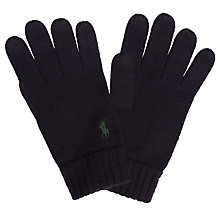 Buy Polo Ralph Lauren Merino Gloves, Navy Online at johnlewis.com