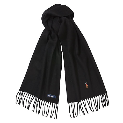 Buy Polo Ralph Lauren Lambswool Logo Scarf Online at johnlewis.com