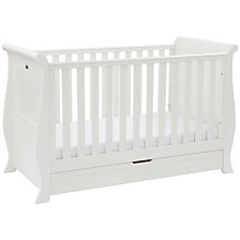 Buy Silver Cross Nostalgia Sleigh Cotbed, White Online at johnlewis.com