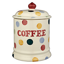 Buy Emma Bridgewater Polka Dot Coffee Storage Jar, H20 x Dia.13cm, Multi Online at johnlewis.com