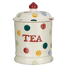 Buy Emma Bridgewater Polka Dot Tea Jar, H20 x W13cm, Multi Online at johnlewis.com