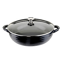 Buy Sophie Conran for Portmeirion Shallow Casserole Dish, W30cm, Black Online at johnlewis.com