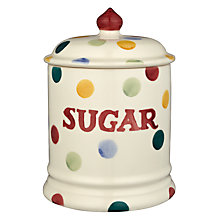 Buy Emma Bridgewater Polka Dot Sugar Jar, H20 x Dia.13cm, Multi Online at johnlewis.com