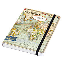 Buy Cavallini Maps Pocket 2014 Diary Online at johnlewis.com
