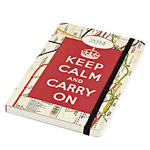 Buy Cavallini Keep Calm Pocket 2014 Diary Online at johnlewis.com