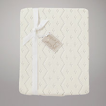 Buy John Lewis Baby Receiving Blanket, Off White Online at johnlewis.com