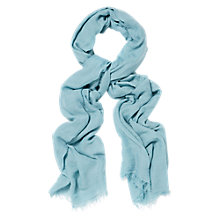 Buy Hobbs Catherine Day Scarf, Duck Egg Blue Online at johnlewis.com