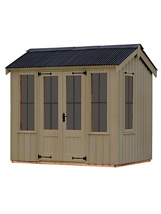 National Trust by Crane Lavenham Summerhouse, 2.4 x 2.4m, FSC-Certified (Scandinavian Redwood)