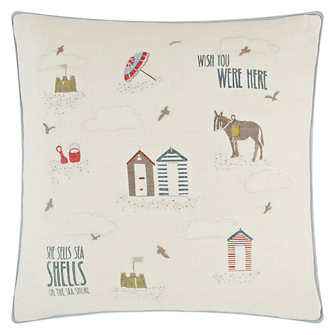 Buy She Sells Sea Shells Cushion Online at johnlewis.com