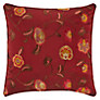 John Lewis Oriental Floral Cushion, Red