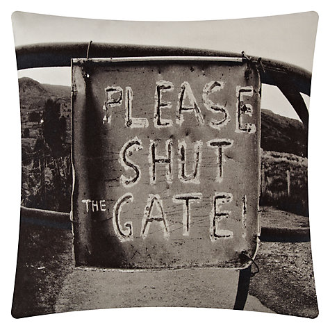 Buy John Lewis Please Shut The Gate Cushion Online at johnlewis.com