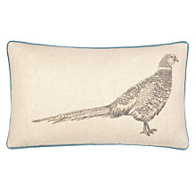 Buy John Lewis Embroidered Pheasant Cushion Online at johnlewis.com