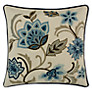 John Lewis Fusion Flower Cushion, Blue