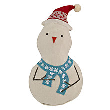 Buy John Lewis Stan Snowman 3D Cushion Online at johnlewis.com