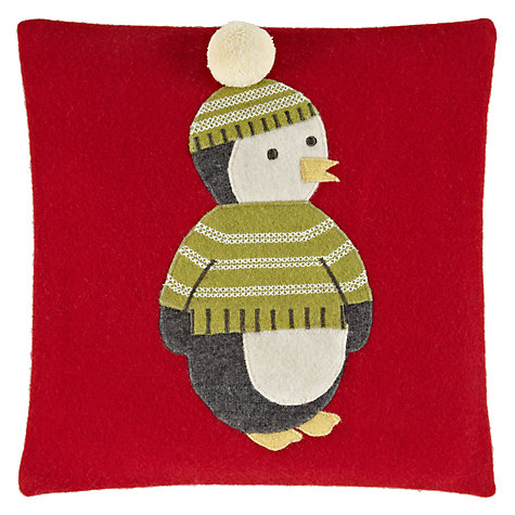 Buy John Lewis Percy Penguin Cushion, Multi Online at johnlewis.com