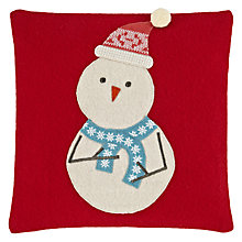 Buy John Lewis Stan Snowman Cushion Online at johnlewis.com