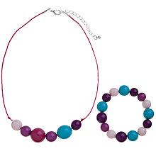 Buy John Lewis Girl Beaded Jewellery Set, Multi Online at johnlewis.com