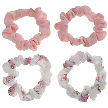 Buy John Lewis Girl Georgette Scrunchies, Pack of 4, Multi Online at johnlewis.com
