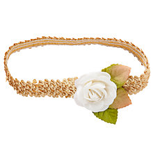 Buy John Lewis Girl Flower Sequin Headband, Gold Online at johnlewis.com