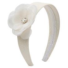 Buy John Lewis Girl Corsage Glitter Flower Alice Band, Cream Online at johnlewis.com