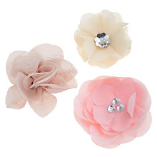 Buy John Lewis Girl Flower Hair Clips, Pack of 3, Multi Online at johnlewis.com