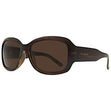 Buy Ted Baker 1295 Sibilia Rectangular Sunglasses, Brown Online at johnlewis.com