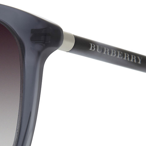 Buy Burberry BE4139 30138G D-Frame Sunglasses, Blue Online at johnlewis.com