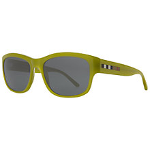 Buy Burberry BE4134 Square Sunglasses, Green Online at johnlewis.com