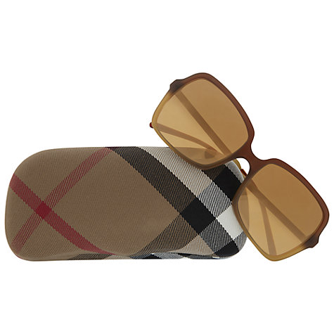 Buy Burberry BE4127 33706H Oval Sunglasses Online at johnlewis.com