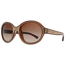 Buy Emporio Armani AR8017 501787 Round Frame Sunglasses, Light Brown Online at johnlewis.com