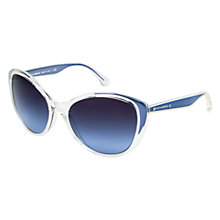 Buy Dolce & Gabbana DG6075m 27118F Cat's Eye Framed Sunglasses, Clear Blue Online at johnlewis.com