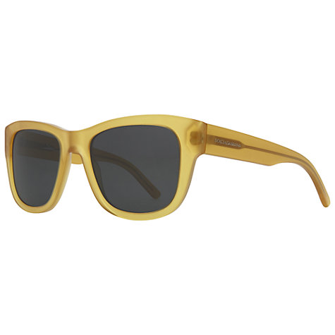 Buy Dolce & Gabbana DG4177 Square Sunglasses, Gold Online at johnlewis.com