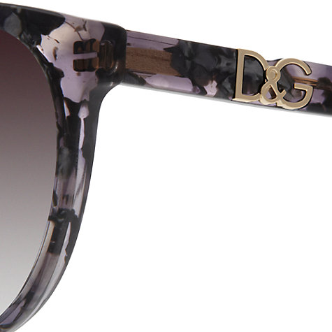 Buy Dolce & Gabbana DG4169P  270713 Cat's Eye Sunglasses, Purple/Dark Grey Online at johnlewis.com