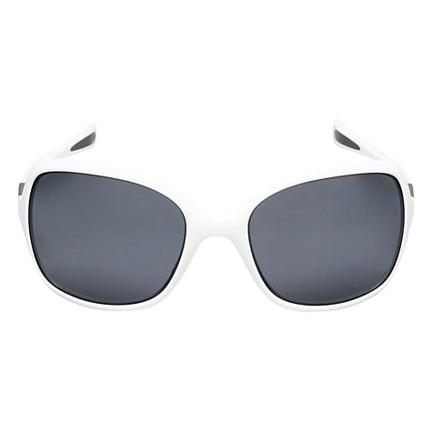Buy Oakley OO9192 Square Sunglasses, White Online at johnlewis.com