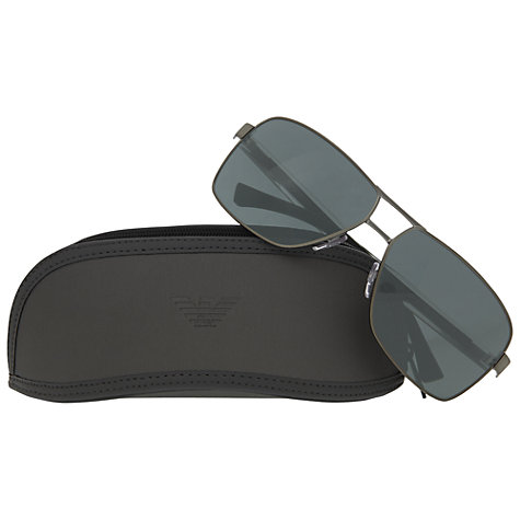 Buy Emporio Armani EA2001 Rectangular Sunglasses Online at johnlewis.com