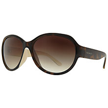 Buy Ted Baker TB1297 Agnes Oversized Round Sunglasses, Tortoiseshell Brown Online at johnlewis.com