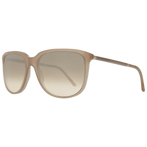 Buy Burberry BE4139 33573D Square Sunglasses, Neutral Online at johnlewis.com