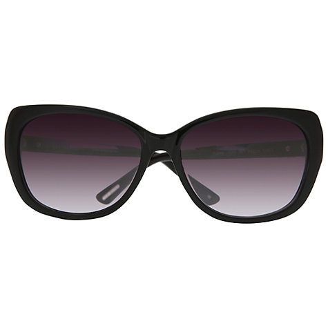 Buy Ted Baker TB1285 Rubea Oversized Cats Eyes Sunglasses, Black Online at johnlewis.com
