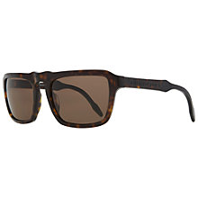 Buy Burberry BD4119  331473 Rectangular Thick Framed Sunglasses, Dark Havana Online at johnlewis.com