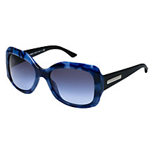 Buy Emporio Armani AR8002 50978F Square Thick Frame Sunglasses, Blue Online at johnlewis.com