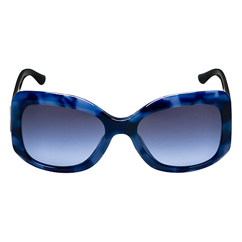 Buy Emporio Armani AR8002 50978F Square Thick Acetate Frame Sunglasses, Blue Online at johnlewis.com