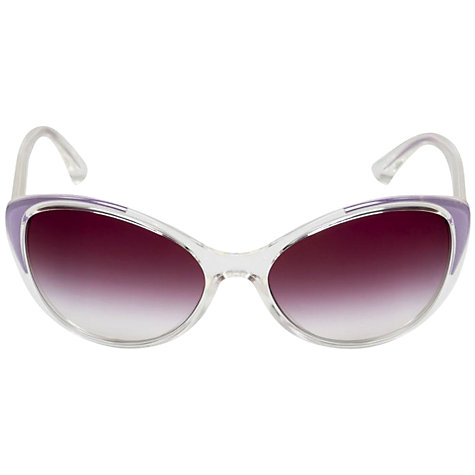 Buy Dolce & Gabbana DG6075M 27108E Oval Cat's Eye Sunglasses, Clear Purple Online at johnlewis.com