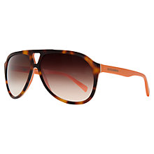 Buy Dolce & Gabbana DG4169P 270713 Acetate Aviator Styled Sunglasses, Tortoiseshell Brown Online at johnlewis.com