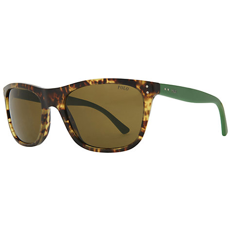 Buy Polo Ralph Lauren PH4071 Square Sunglasses, Tortoise Brown Online at johnlewis.com