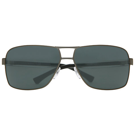 Buy Emporio Armani EA2001300371 Square Aviator Style Sunglasses, Gunmetal Online at johnlewis.com
