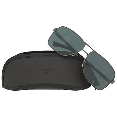 Buy Emporio Armani EA2001300371 Square Aviator Style Sunglasses Online at johnlewis.com